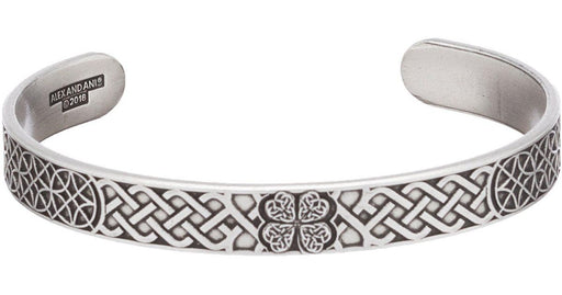ALEX AND ANI Men's Four Leaf Clover Cuff