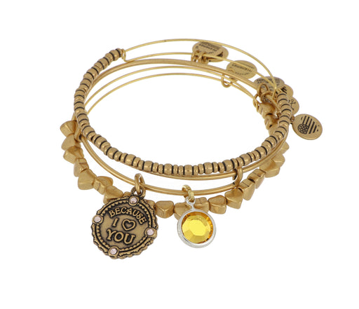 ALEX AND ANI November Because I Love You Set - Gold