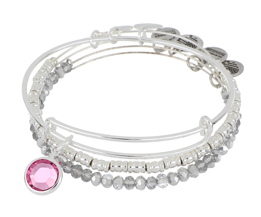 ALEX AND ANI October Birthstone Set - Silver