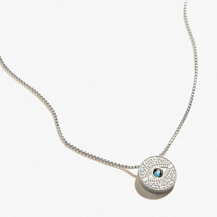 ALEX AND ANI Evil Eye Crystal Necklace