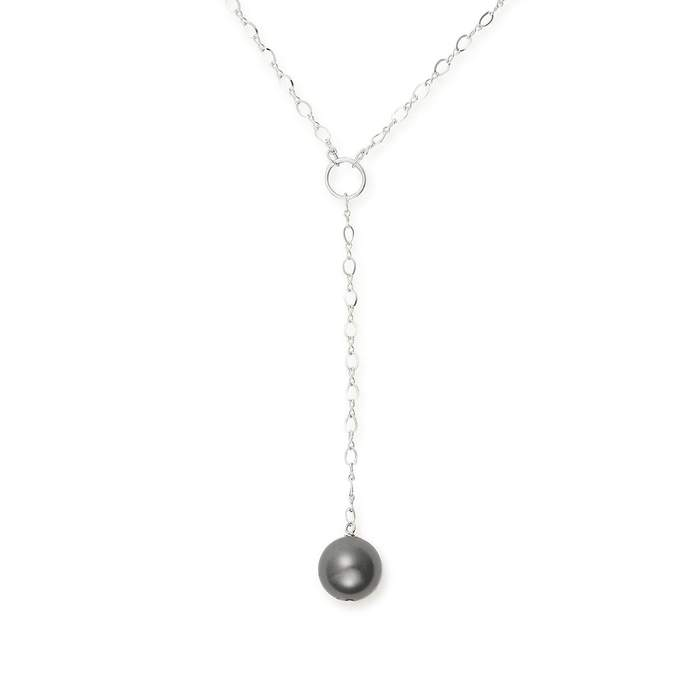 ALEX AND ANI Sea Sultry Pearl Lariat 16 in. Necklace