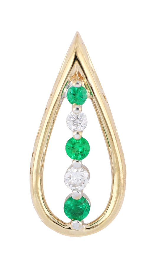 Emerald Ladies Pendant (Emerald 0.14 cts. White Diamond 0.1 cts.)