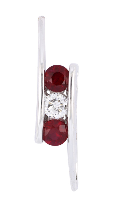 Ruby Ladies Pendant (Ruby 0.46 cts. White Diamond 0.17 cts.)