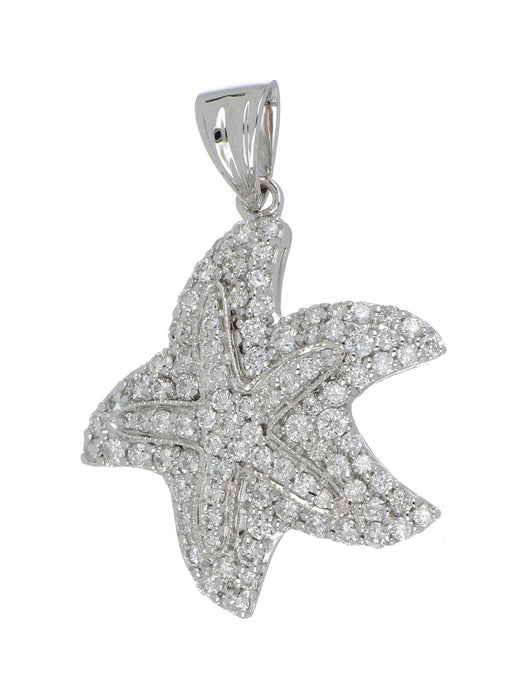 Sea Life White Diamond Ladies Pendant (White Diamond 1.63 cts.)