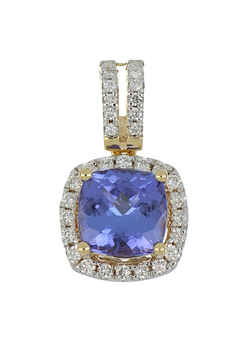 Tanzanite Ladies Pendant (Tanzanite 2.55 cts. White Diamond 0.34 cts.)
