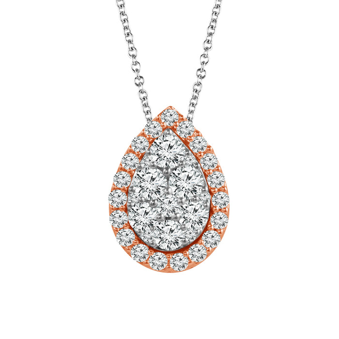 White Diamond Ladies Pendant (White Diamond 0.40 cts.)