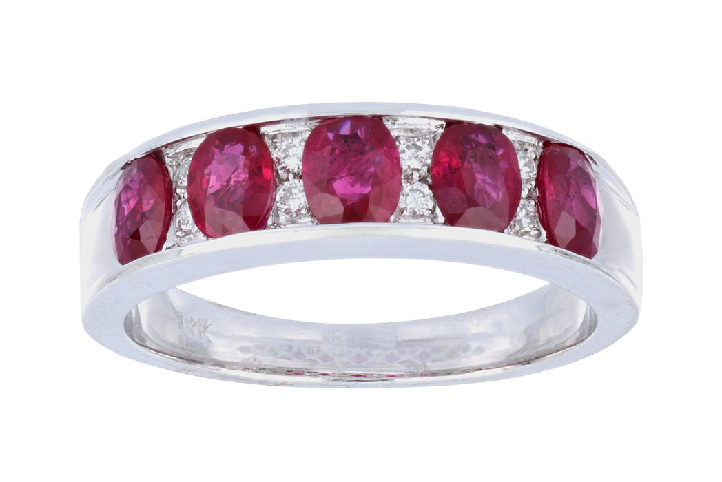 Ruby Ladies Ring (Ruby 1.88 cts. White Diamond 0.09 cts.)