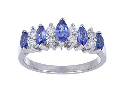 Tanzanite Ladies Ring (Tanzanite 0.91 cts. White Diamond 0.25 cts.)