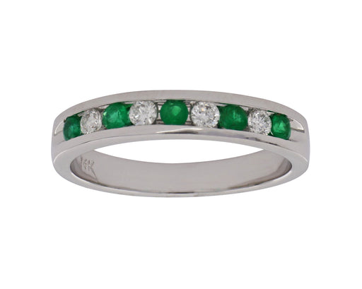 Emerald Ladies Ring (Emerald 0.21 cts. White Diamond 0.17 cts.)