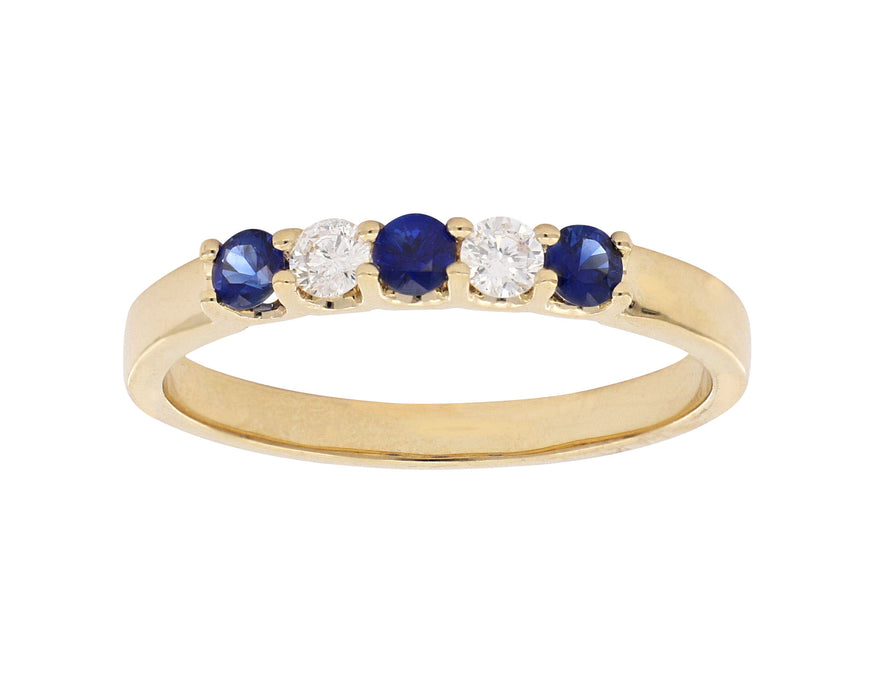 Blue Sapphire Ladies Ring (Blue Sapphire 0.26 cts. White Diamond 0.14 cts.)