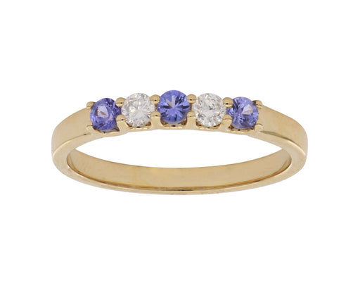Tanzanite Ladies Ring (Tanzanite 0.22 cts. White Diamond 0.14 cts.)