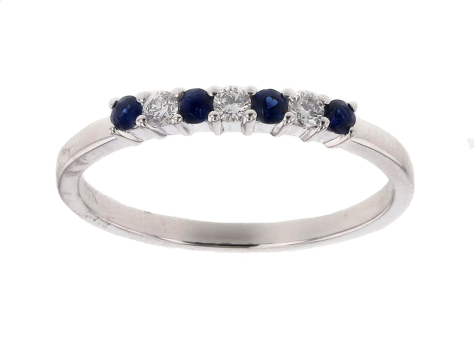 Blue Sapphire Ladies Ring (Blue Sapphire 0.18 cts. White Diamond 0.1 cts.)