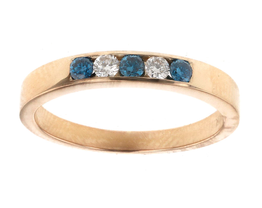 Blue Diamond Ladies Ring (Blue Diamond 0.16 cts. White Diamond 0.11 cts.)