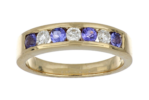 Tanzanite Ladies Ring (Tanzanite 0.45 cts. White Diamond 0.27 cts.)