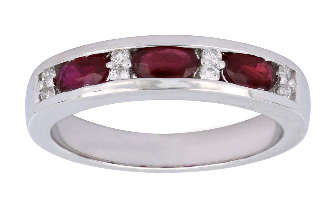 Ruby Ladies Ring (Ruby 0.85 cts. White Diamond 0.12 cts.)