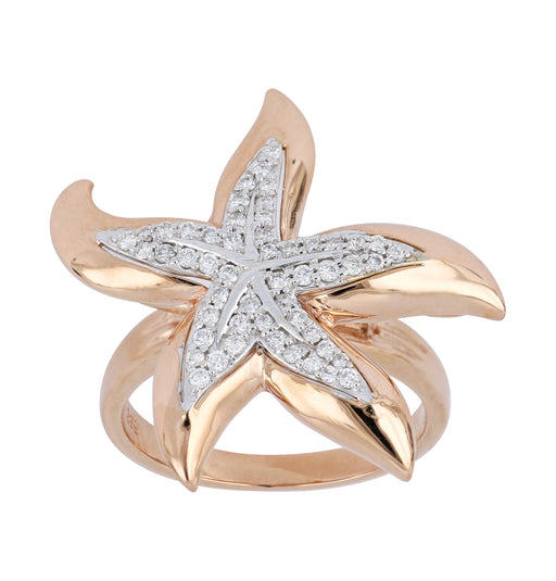 White Diamond Sea Life Ladies Ring