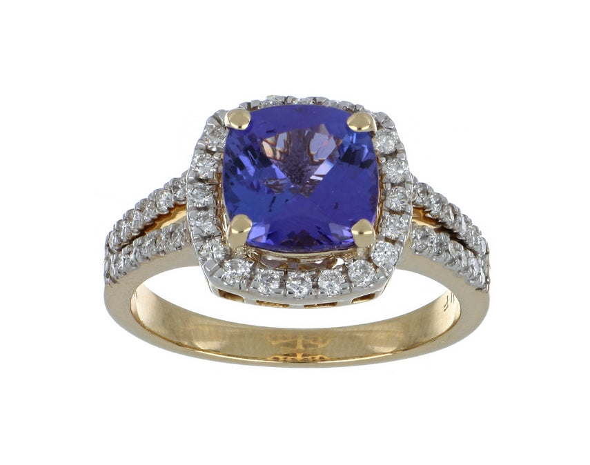 Tanzanite Ladies Ring (Tanzanite 2.31 cts. White Diamond 0.42 cts.)