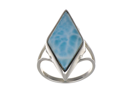 Marquise Larimar Ring, set in S/S