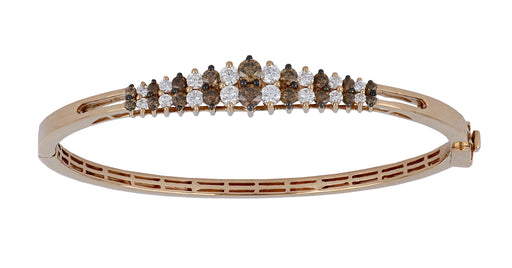 Brown Diamond Ladies Bangle ( Brown Diamond 1.07 cts. White Diamond 0.82 cts.)