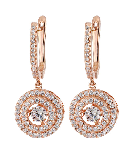 Cubic Zirconia Ladies Earrings (Cubic Zirconia 2.45 cts.)