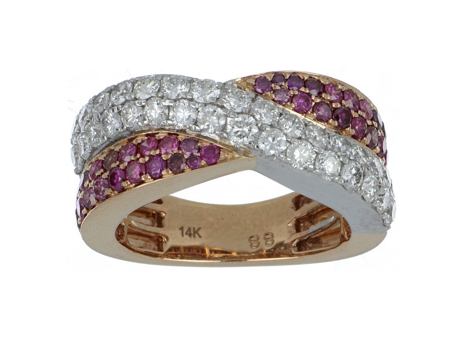 Purple Diamond Ladies Ring (Purple Diamond 0.74 cts. White Diamond 1.34 cts. 8.47 grams)