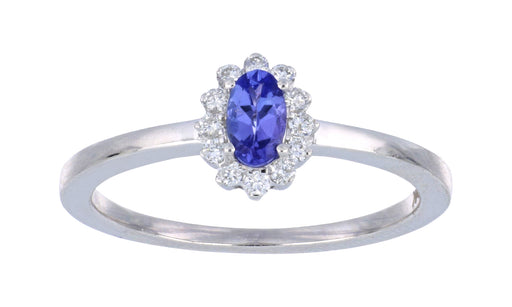 Tanzanite Ladies Ring (Tanzanite 0.33 cts. White Diamond 0.12 cts.)