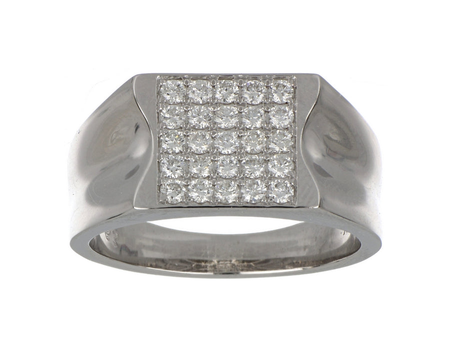 White Diamond Men's Ring (White Diamond 0.65 cts.)