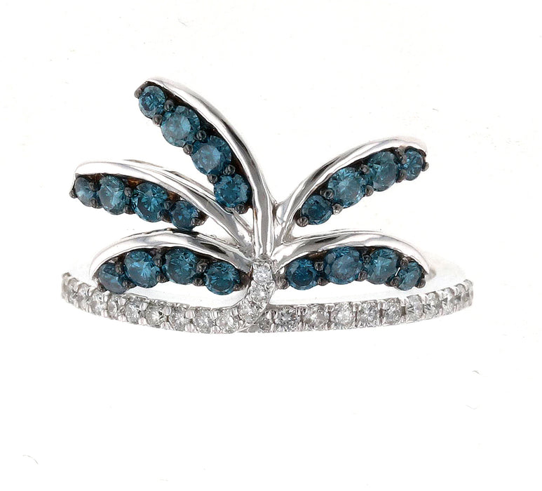 Blue Diamond Ladies Ring (Blue Diamond 0.55 cts. White Diamond 0.21 cts.)