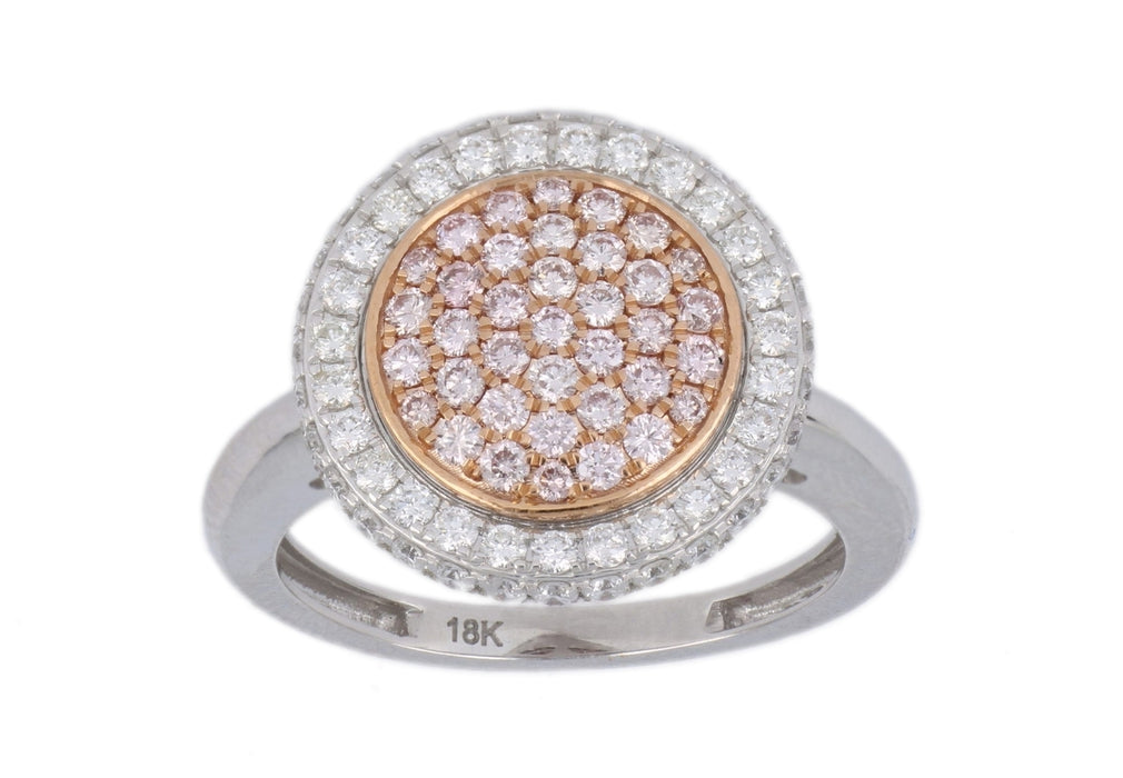 Pink Diamond Ladies Ring (Pink Diamond 0.46 cts. White Diamond 0.66 cts.)
