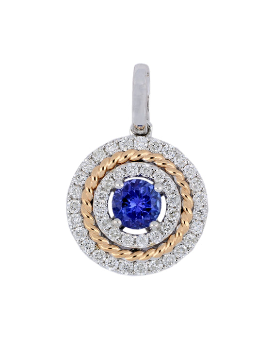 Tanzanite Ladies Pendant (Tanzanite 0.8 cts. White Diamond 0.66 cts.)