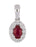 Ruby Ladies Pendant (Ruby 0.33 cts. White Diamond 0.15 cts.)