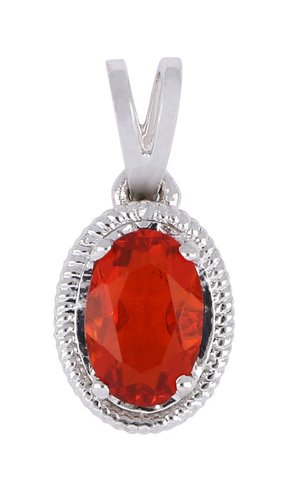 Fire Opal Ladies Pendant (Fire Opal 0.36 cts.)