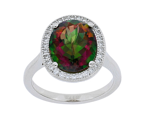 Hawaiian Topaz Ladies Ring (Hawaiian Topaz 5.1 cts. Cubic Zirconia 2.8 cts.)