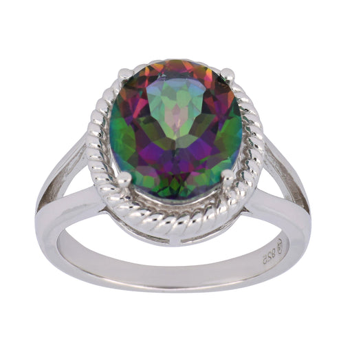 Rainbow Topaz Ladies Ring (Rainbow Topaz 5.03 cts.)