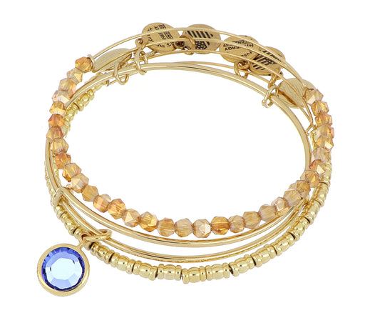 ALEX AND ANI September Birthstone Set - Gold
