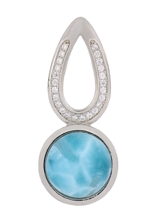 Larimar Ladies Pendant (White Topaz)