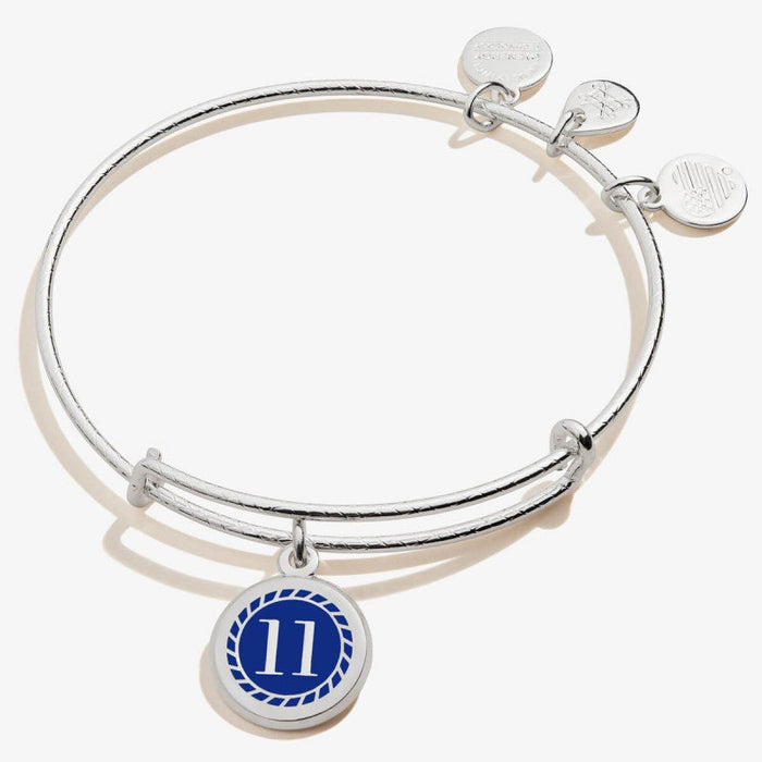 ALEX AND ANI Color Infusion Numerology Eleven Charm Bangle