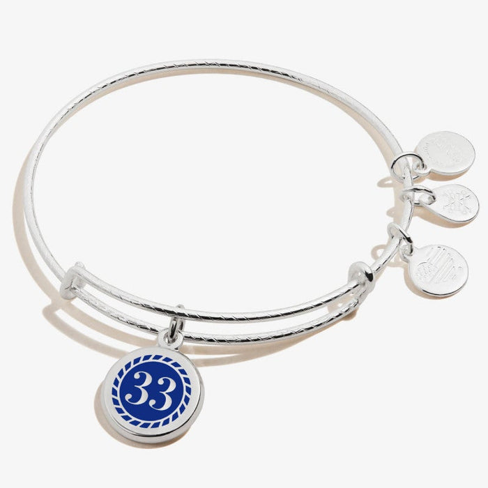 ALEX AND ANI Color Infusion Numerology Thirty Three Charm Bangle