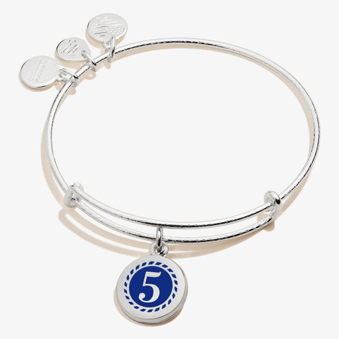 ALEX AND ANI Color Infusion Numerology Five Charm Bangle