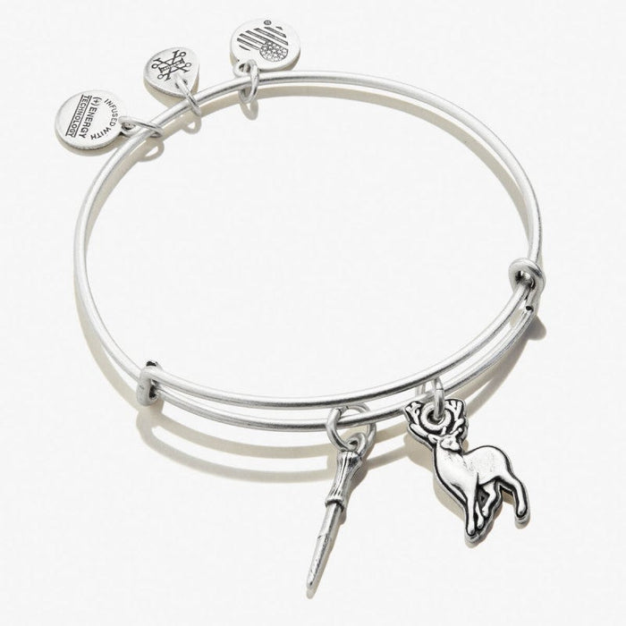 ALEX AND ANI Harry Potter Wand and Patronus Duo Charm Bangle