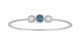 Blue Diamond Ladie Bangle (Blue Diamond 0.65 cts. White Diamond 1.47 cts.)