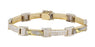 Gold Quartz Men's Bracelet(Gold Quartz White Diamond 1.4 cts.)