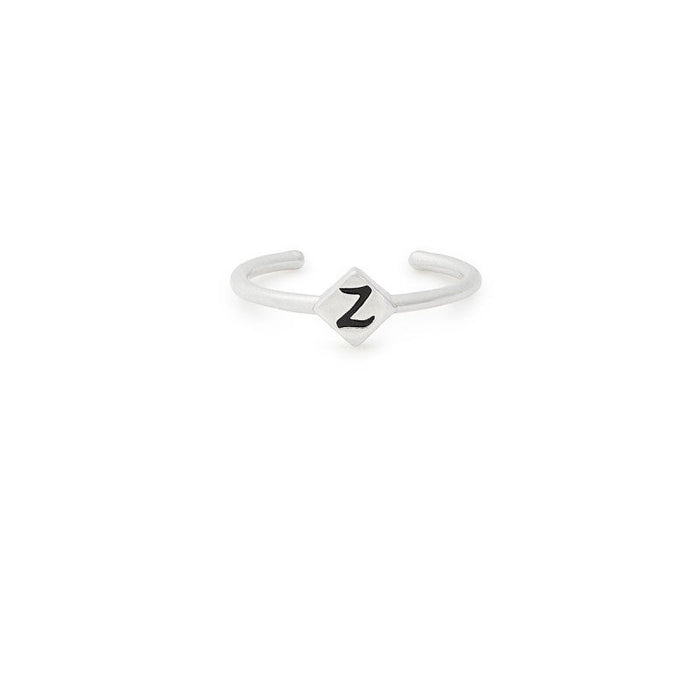 ALEX AND ANI Initial Z Adjustable Ring