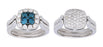 """Happy Hour"" Blue and White Diamond Ring"