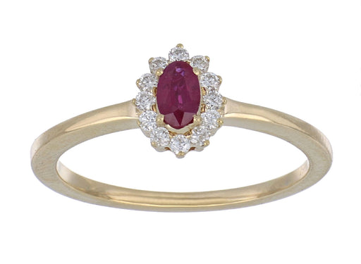 Ruby Ladies Ring (Ruby 0.36 cts. White Diamond 0.12 cts.)