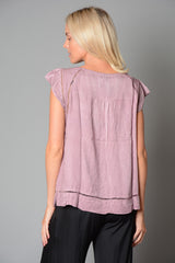 Ladies C & A Tie Front Top (Pack of 10) £3.50 Per Garment