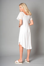 Ladies Long Lace Tie Front Dress (Pack of 10) £5.00 Per Garment