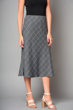 "Ladies Fully Lined Checked 30"" Long Skirt (Pack of 9) £7.50 Per Garment"