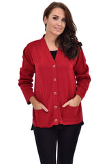 Ladies Knitted Pocket Cardigan (Pack of 8) £7.25 Per Garment