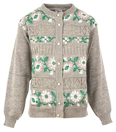 Ladies Button Down Flower Design Cardigan (Pack of 8) £5.00 Per Garment